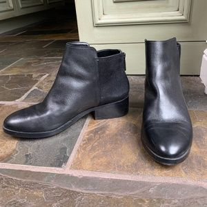 Cole Haan Black Leather/Suede Chelsea Boots